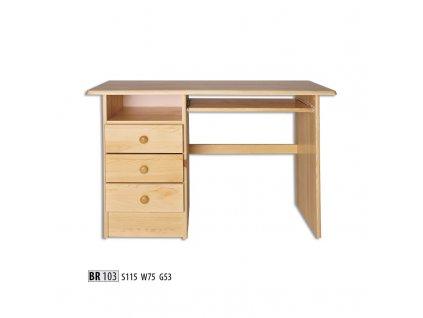 PC stůl BR 103 borovice masiv
