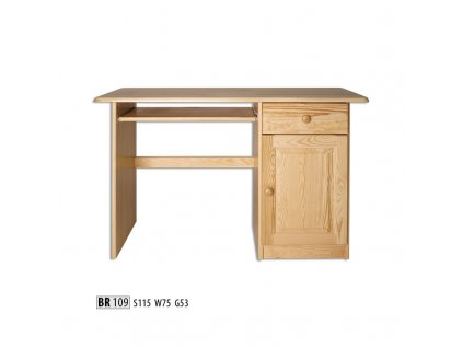 PC stůl BR 109 borovice masiv