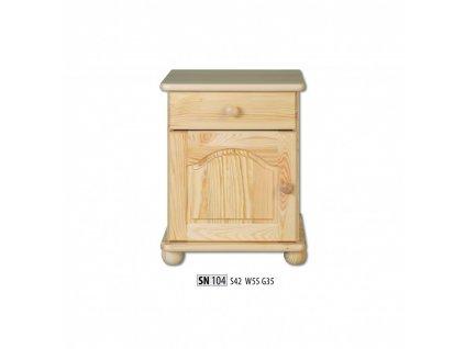 Noční stolek SN 104 masiv borovice