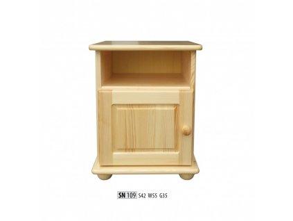 Noční stolek SN 109 masiv borovice