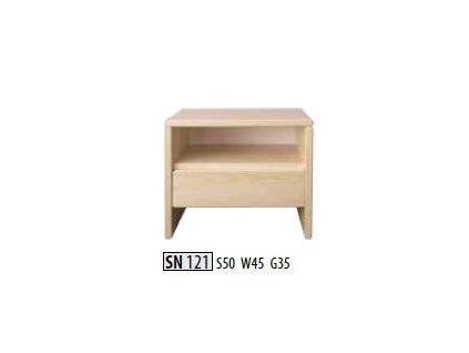 Noční stolek SN 121 masiv borovice