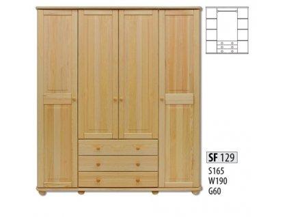 Skříň dřevěná masivní SF 129