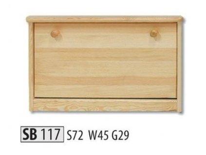 Botník SB 117  borovice masiv
