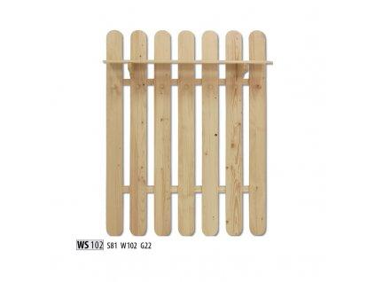 Věšák WS 102 borovice masiv