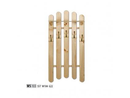 Věšák WS 103  borovice masiv