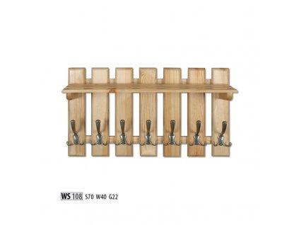 Věšák WS 108  borovice masiv