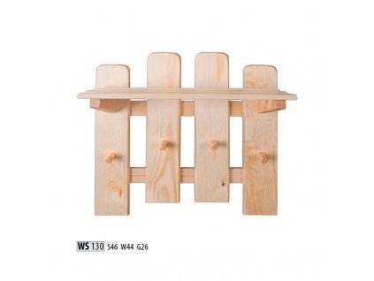 Věšák WS 130 borovice masiv
