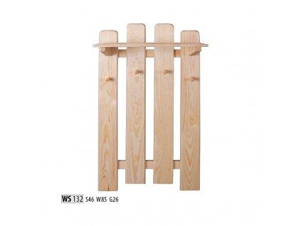 Věšák WS 132 borovice masiv