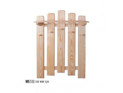 Věšák WS 133 borovice masiv
