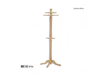 Věšák WS 140 buk masiv