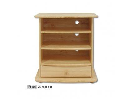 Televizní stolek RV 107  borovice masiv