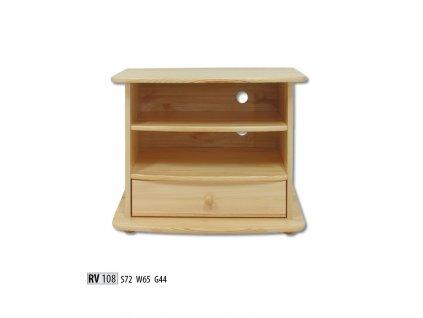 Televizní stolek RV 108  borovice masiv