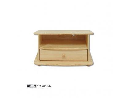 Televizní stolek RV 109  borovice masiv