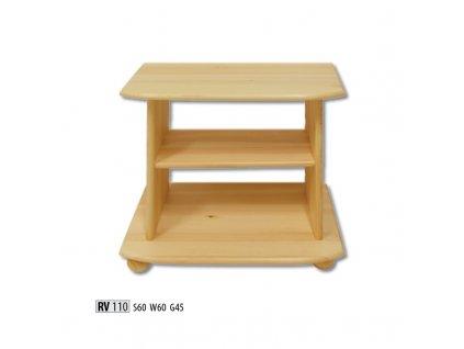 Televizní stolek RV 110  borovice masiv