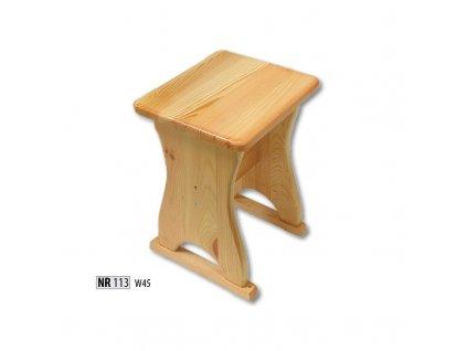 Jídelní stolička / taburet NR 113 borovice masiv