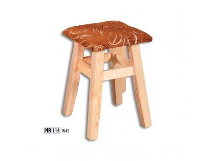 Jídelní stolička / taburet NR 114 borovice masiv