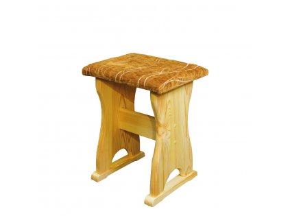 Jídelní stolička / taburet NR 115 borovice masiv