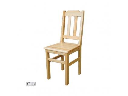 Jídelní židle KT 103 borovice masiv