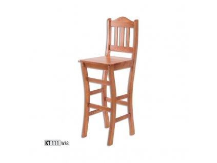 Barová židle KT 111 borovice masiv