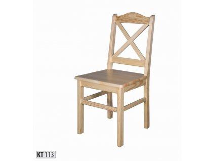 Jídelní židle KT 113 borovice masiv