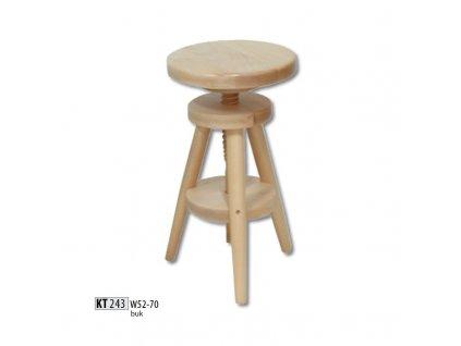 Polohovatelná barová židle KT 243 buk masiv