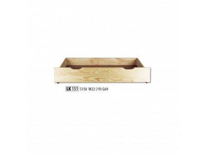 Šuplík pod postel LK 151 masiv borovice