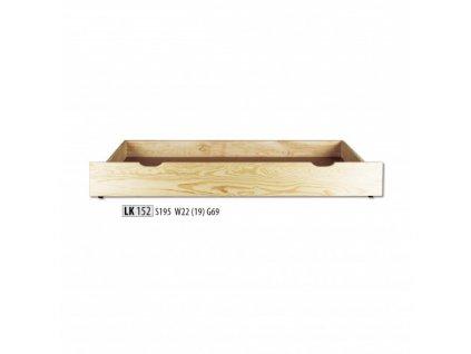 Šuplík pod postel LK 152 masiv borovice