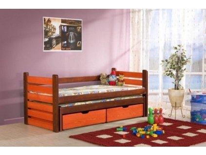 Dětská postel MATOUŠ s přistýlkou