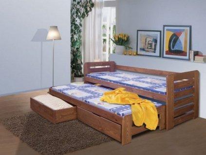 Dětská postel TOMÁŠ s přistýlkou
