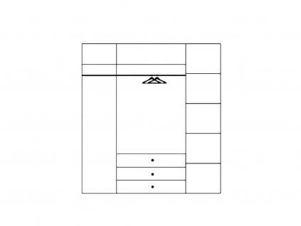 Šatní skříň  MILO 02