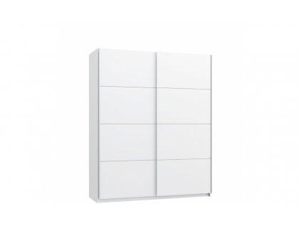 Šatní skříň STARLET WHITE s posuvnými dveřmi STPS824E1