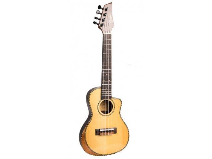 HNB SMIGER Picea Asperata elektroakustické koncertní ukulele 23 Cutaway úzké tělo thin