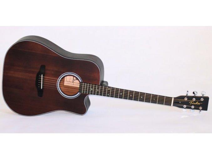 TREMBITA D7C-B westernová kytara, dreadnought s výřezem, polomasiv (smrk), Brown Matná,- VÝBĚR!!!