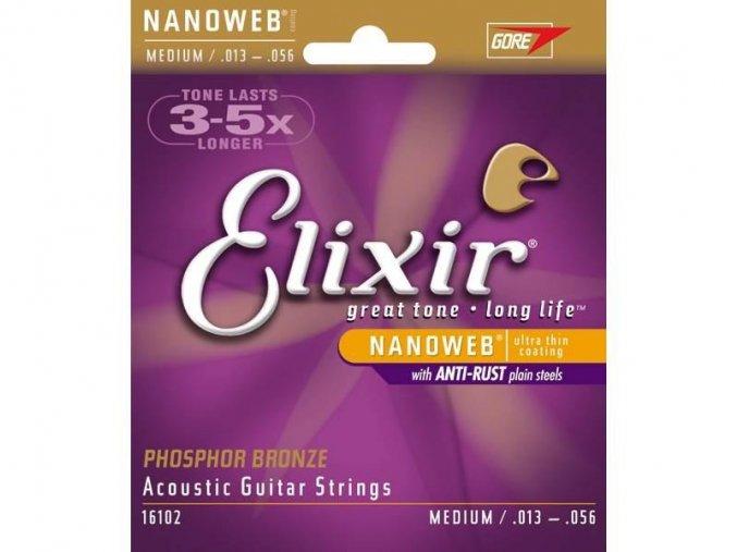 ELIXIR 16102 PB 13/56 struny kytarové, PHOSPHOR BR