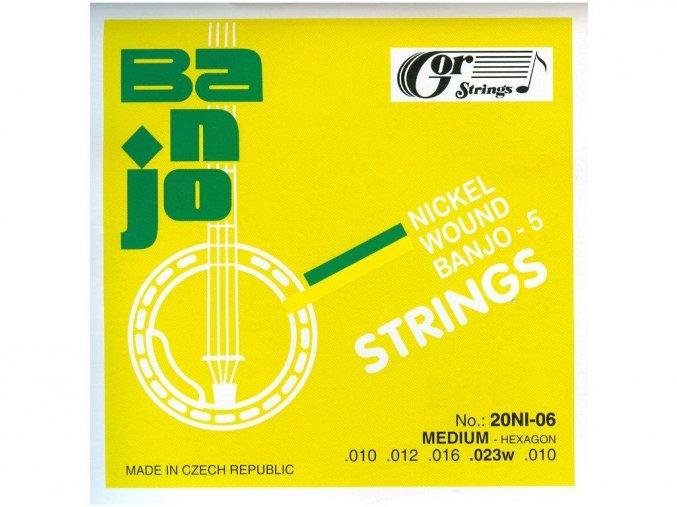GORSTRINGS 20BNI-06 (20NI-06) struny banjo 5 strunné 10/23