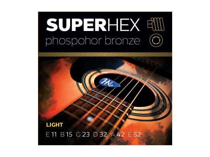 SUPERHEX PB 11/52 struny na westernovou kytaru phosphor bronze