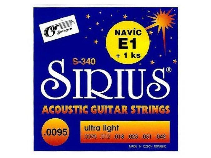 GORSTRINGS SIRIUS S-340 struny kytara .0095