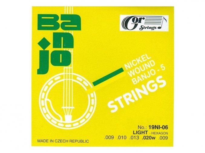 GORSTRINGS 19BNI-06 (19NI-06) 9/20 struny banjo 5 strunné