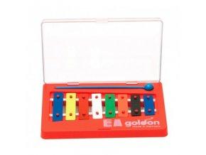 GOLDON metalofon 8 barevných kamenů