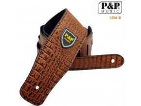 P&P S588B řemen kytarový PU kůže