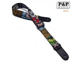 P&P S18L bavlněný řemen na ukulele nebo malou kytaru