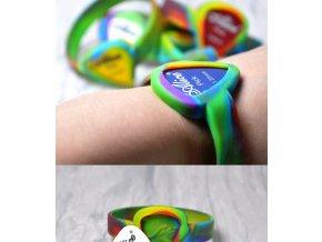 EBE gumový náramek na ruku s možností umístění trsátka