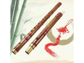 EBE BAMBOO II Bambusová flétna, tradiční čínský hudební nástroj, D ladění, s povlakem