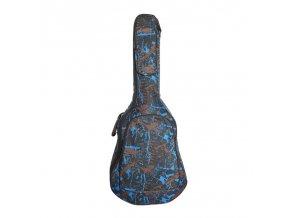 HNB Povlak na western kytaru, modrý, camo