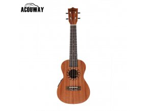HNB ACOUWAY 21 elektroakustické sopránové ukulele, sapele