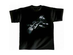 RY Hudební tričko s motivem hlavy kontrabasu Monn Strings