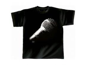 RY Hudební tričko s motivem mikrofonu Planet Voice