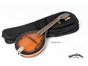 SIGMA MA-1, mandolína typu A, top-masiv smrk, tělo javor, s polstrovaným gig bagem