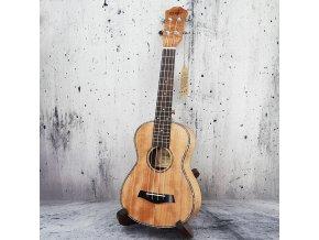 EBE MUSIC UK-23E OKOU ukulele koncert žíhané okoume se snímačem