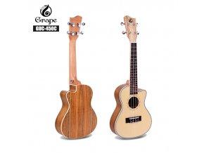 HNB GRAPE GUC-450C koncertní ukulele ořech/smrk